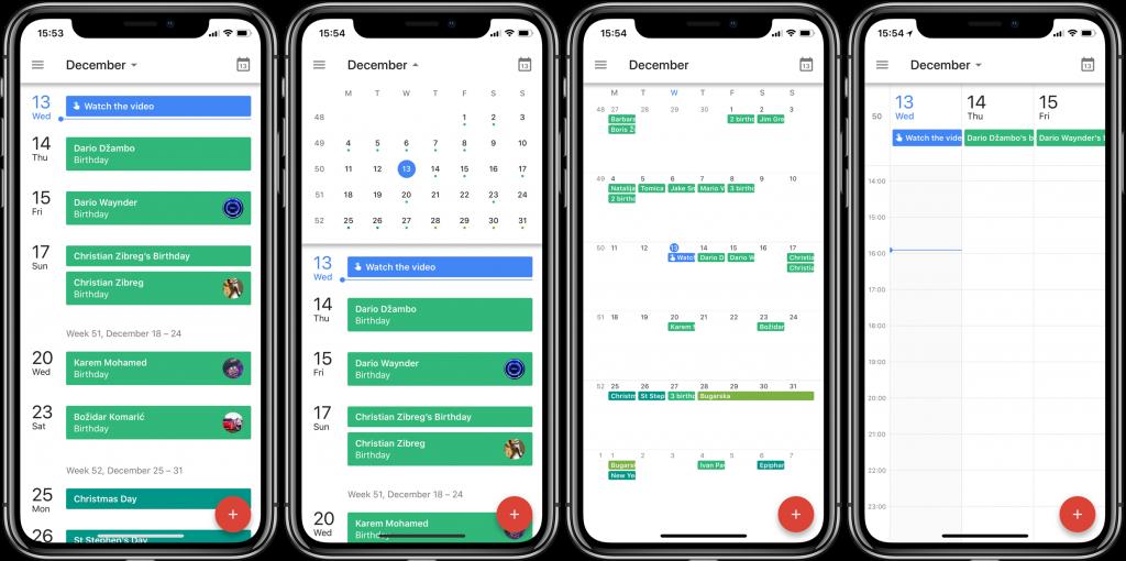 Google Calendar trên điện thoại thông minh