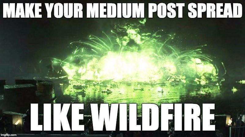 gửi bài viết đến các ấn phẩm Medium