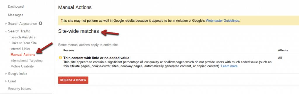 Cách khắc phục Google penalty