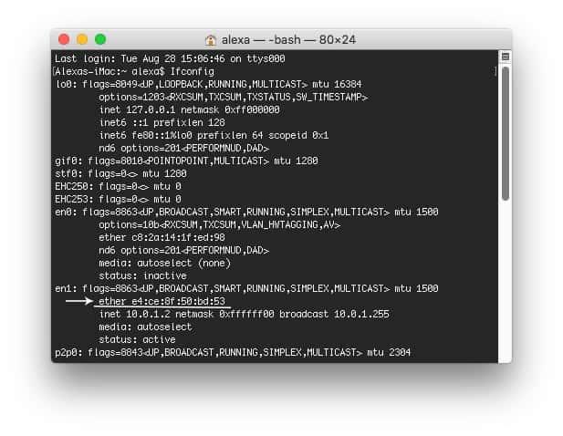Cách tìm Mac Address trên MacOS 2