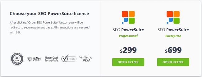 phần mềm phân tích SEO PowerSuite tốt nhất