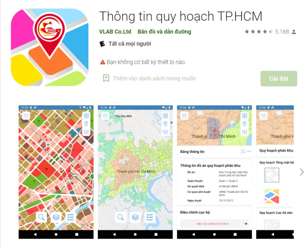Cách tra cứu thông tin quy hoạch TPHCM 5